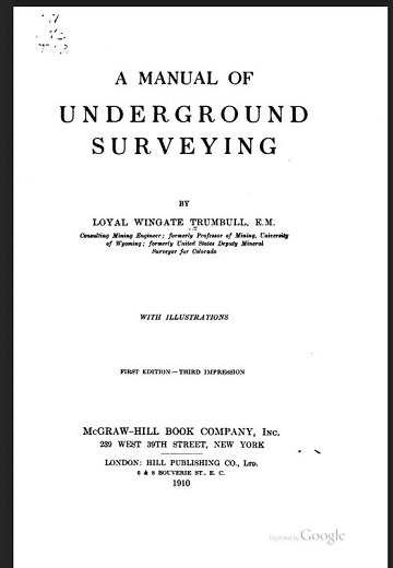 A Manual of Underground Surveying by Loyal Wingate Trumbull