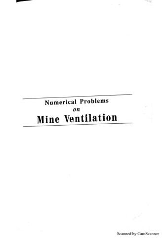 Numerical problems on Mine Ventilation by L C Kaku