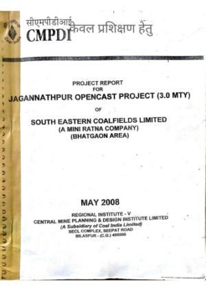 Project Report Jagannathpur OCM by SECL