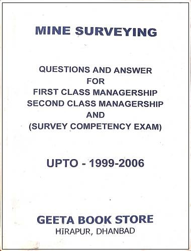 QnA for 1st class managership 2nd class managership (Survey competency exam) (1999-2006) by B Ghosh